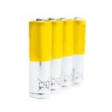 Benutzte AA-Batterien Stockfotos