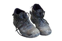 Benutzte alte Schuhe Stockfoto