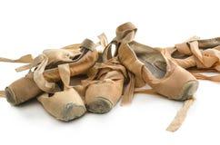 Benutzte Ballettschuhe Lizenzfreie Stockfotografie