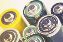 Benutzte Batterien Lizenzfreies Stockfoto