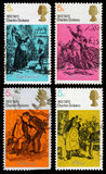 Briefmarken Großbritanniens Charles Dickens Stockfotos