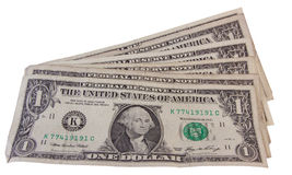 Benutzte Dollar Lizenzfreie Stockfotografie