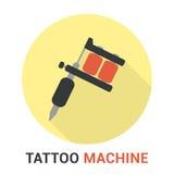 Benutzte, handgemachte Tätowierungmaschine getrennt auf Weiß Stockfotos