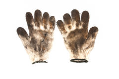 Benutzte Handschuhe Stockfoto