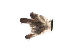 Benutzte Handschuhe Stockfotografie