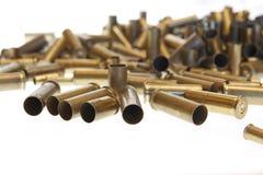 Benutzte leere alte Gewehrkugelkassetten Stockbild