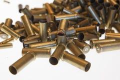 Benutzte leere alte Gewehrkugelkassetten Lizenzfreie Stockfotos