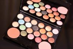 Benutzte Make-upausrüstung Lizenzfreie Stockfotos