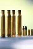Benutzte Munition Stockfotografie