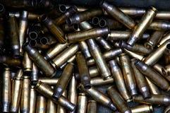 Benutzte Munition Stockfoto