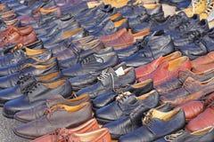 Benutzte Schuhe Stockfotos