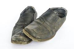Benutzte Schuhe Stockfoto