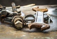 Benutzte Teile für Reparatur der Ausrüstung Stockbild