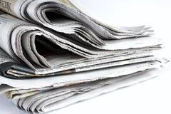 Benutzte Zeitungen Stockfotos