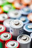 Benutzter Batteriehintergrund Lizenzfreie Stockfotos