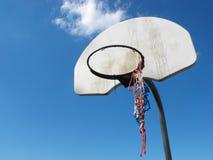 Benutztes Basketball-Netz Lizenzfreie Stockfotos