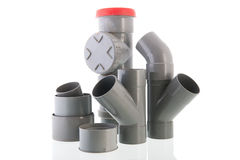 Benutztes PVC-Rohr Stockfotografie