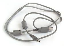 Benutztes Verbindungskabel für Computer Stockfoto