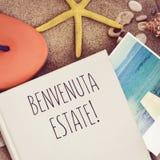 Benvenuta-Zustand, willkommener Sommer auf italienisch Lizenzfreie Stockfotografie