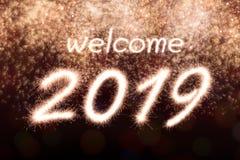 Benvenuto 2019 illustrazione vettoriale
