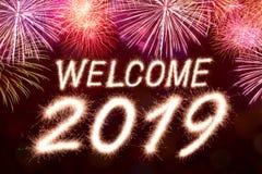 Benvenuto a 2019 illustrazione vettoriale