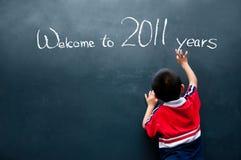 Benvenuto a 2011 anno Immagini Stock Libere da Diritti