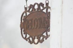 Benvenuto Fotografie Stock