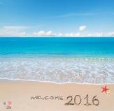 Benvenuto 2016 Immagine Stock