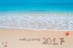 Benvenuto 2017 Fotografie Stock