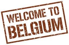 benvenuto al bollo del Belgio Immagini Stock