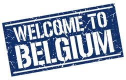 benvenuto al bollo del Belgio Fotografie Stock Libere da Diritti