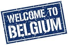 benvenuto al bollo del Belgio Fotografia Stock Libera da Diritti