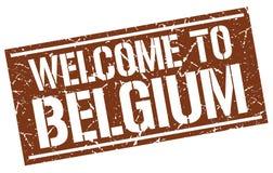 benvenuto al bollo del Belgio Fotografie Stock
