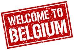 benvenuto al bollo del Belgio Immagine Stock Libera da Diritti
