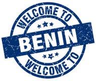 Benvenuto al bollo del Benin Illustrazione Vettoriale
