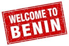 Benvenuto al bollo del Benin Illustrazione di Stock