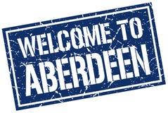 Benvenuto al bollo di Aberdeen Fotografie Stock