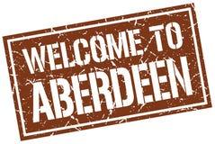 Benvenuto al bollo di Aberdeen Immagini Stock