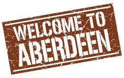 Benvenuto al bollo di Aberdeen Fotografia Stock