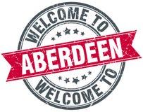 Benvenuto al bollo di Aberdeen Immagine Stock Libera da Diritti