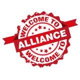 Benvenuto al bollo di alleanza royalty illustrazione gratis