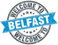 benvenuto al bollo di Belfast Immagine Stock