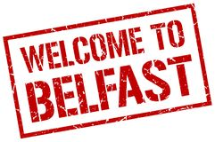 benvenuto al bollo di Belfast Fotografie Stock