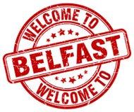 benvenuto al bollo di Belfast Immagini Stock