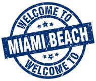 Benvenuto al bollo di Miami Beach Illustrazione Vettoriale