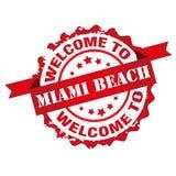 Benvenuto al bollo di Miami Beach Immagini Stock Libere da Diritti