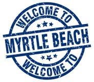 benvenuto al bollo di Myrtle Beach Royalty Illustrazione gratis