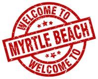 benvenuto al bollo di Myrtle Beach Illustrazione Vettoriale