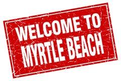 benvenuto al bollo di Myrtle Beach Illustrazione di Stock
