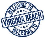 benvenuto al bollo di Virginia Beach Illustrazione di Stock